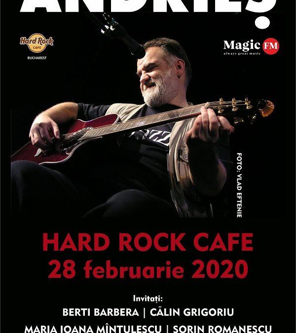 Alexandru Andrieș revine în februarie pe scena din Hard Rock Cafe