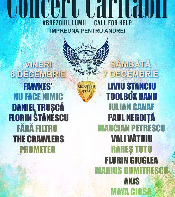 Concert caritabil – Împreună pentru Andrei – ABY STAGE BAR