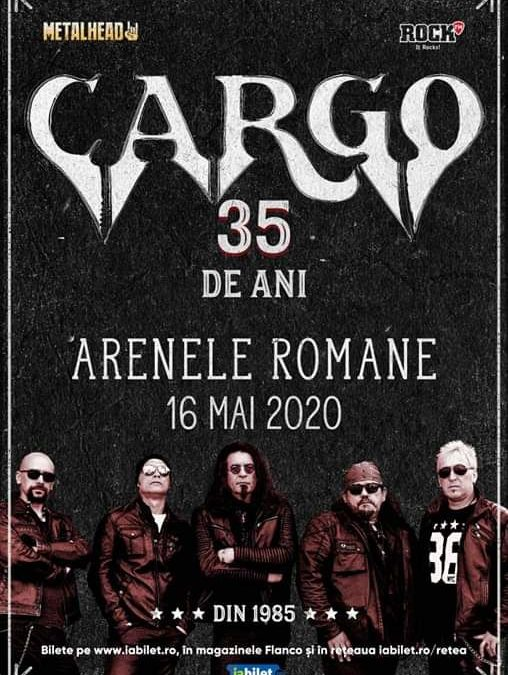 Cargo 35 de ani – Show Aniversar la Arenele Romane pe 16 mai