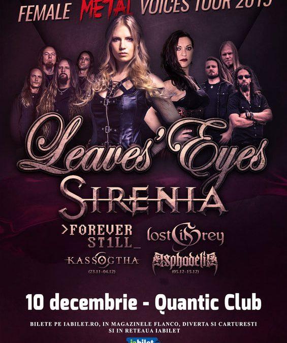 """Leaves' Eyes și Sirenia – """"The Female Metal Voices Tour 2019"""" la Quantic pe 10 decembrie"""