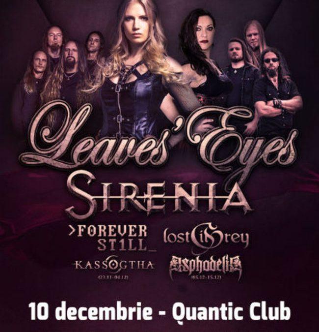 Program și reguli de acces concerte Leaves' Eyes, Sirenia, Forever Still, Lost in Grey și Asphodelia în București și Cluj-Napoca
