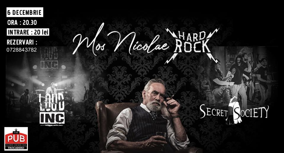 Moș Nicolae hard rock, cu Loud Inc. și Secret Society