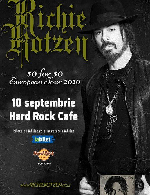 """Concert Richie Kotzen: """"50 for 50"""" la Hard Rock Cafe, pe 10 septembrie"""