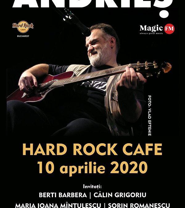 O primă categorie de bilete pentru concertul Alexandru Andrieș  din 10 aprilie este sold out