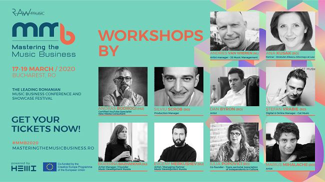 Mastering the Music Business 2020: cum să devii un artist de succes în 10 workshop-uri