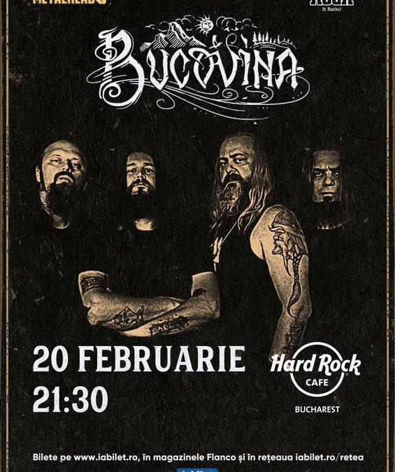 Concert Bucovina la Hard Rock Cafe pe 20 februarie