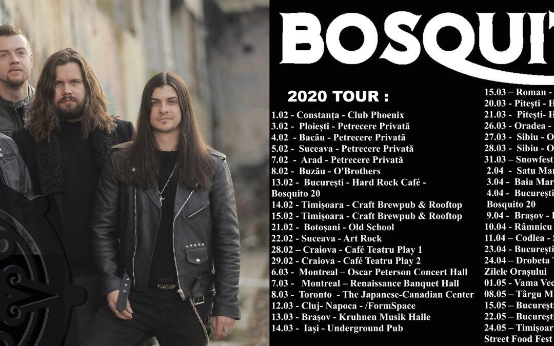 Detalii despre extinsul turneul de primăvară al grupului Bosquito