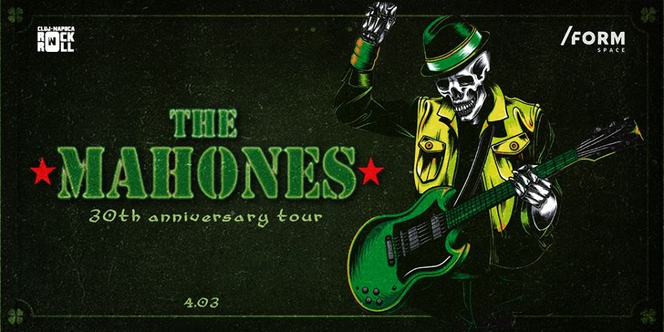 The Mahones (Canada) concertează astăzi în /Form Space Cluj-Napoca